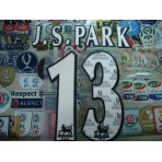 Official J.S.PARK #13 Manchester United Home WHITE FAPL 1997-2007 PLAYER SIZE SENSCILIA PRINT
