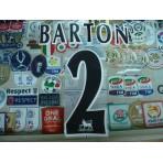 Official BARTON #2 NEWCASTLE United Home BLACK FAPL 1997-2007 PLAYER SIZE SENSCILIA PRINT