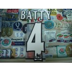 Official BATTY #4 NEWCASTLE United Home WHITE FAPL 1997-2007 PLAYER SIZE SENSCILIA PRINT