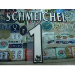 Official SCHMEICHEL #1 Manchester United Home WHITE FAPL 1997-2007 PLAYER SIZE SENSCILIA PRINT