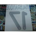 Official MALBRANQUE #17 LYON 3RD UCL 2012-13 PRINT