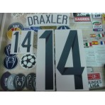 Official DRAXLER #14 Germany Home World Cup 2014  2014-16 PU PRINT