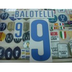 Official BALOTELLI #9 Italy Away World Cup 2014 2014-16 PRINT