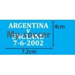 Argentina Vs England WC 2002 VELVET Match Details