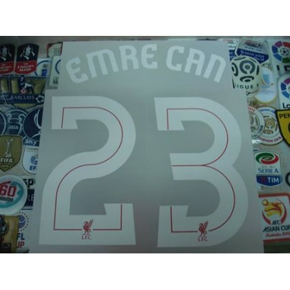 Official EMRE CAN #23 Liverpool Home EUROPA League CUP 2017-18 PRINT