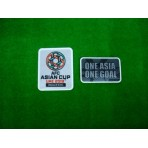 Official AFC ASIAN CUP UAE 2019 QUALIFIER + ONE ASIA ONE GOAL Patches