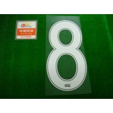 OFFICIAL #8 (OSCAR) CHINA SUPER LEAGUE HOME + CHINA SUPER LEAGUE PATCH PRINT SET
