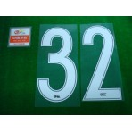 OFFICIAL #32 (TEVEZ) CHINA SUPER LEAGUE HOME + CHINA SUPER LEAGUE PATCH PRINT SET