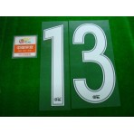 OFFICIAL #13 (GUARIN) CHINA SUPER LEAGUE HOME + CHINA SUPER LEAGUE PATCH PRINT SET