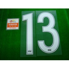 OFFICIAL #13 (GUARIN) CHINA SUPER LEAGUE HOME + CHINA SUPER LEAGUE PATCH PRINT SET