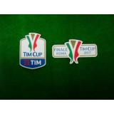 Official Italian TIM CUP Player Size 2017 + FINALE ROMA 2017 Soccer Patches