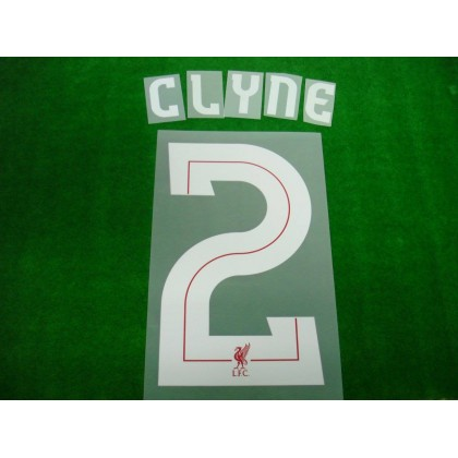 Official CLYNE #2 Liverpool Home CUP 2017-18 UCL PRINT