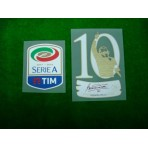 Official TOTTI #10 EXCLUSIVE Testimonial Sleeve Badge + SERIE A 2017-18 Patch
