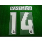 Official CASEMIRO #14 Real Madrid Away 2017-18 SPORTING ID PRINT