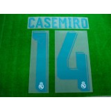Official CASEMIRO #14 Real Madrid Home 2017-18 SPORTING ID PRINT