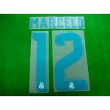 Official MARCELO #12 Real Madrid Home 2017-18 SPORTING ID PRINT