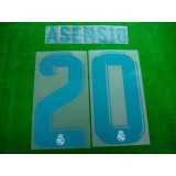 Official ASENSIO #20 Real Madrid Home 2017-18 SPORTING ID PRINT