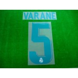Official VARANE #5 Real Madrid Home 2017-18 SPORTING ID PRINT