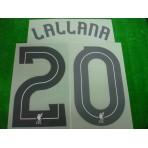 Official LALLANA #20 Liverpool Away CUP 2017-18 PRINT