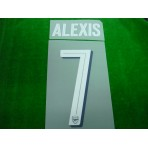 Official ALEXIS #7 Arsenal Home CUP 2017-18 PRINT