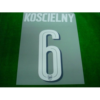 Official KOSCIELNY #6 Arsenal Home CUP 2017-18 PRINT