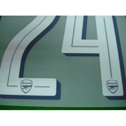 Official BELLERIN #24 Arsenal Home CUP 2017-18 PRINT
