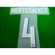 Official MERTESACKER #4 Arsenal Home CUP 2017-18 PRINT