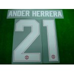 PLAYER ISSUE Official ANDER HERRERA #21 Manchester United Home CUP UCL 2017-18 PRINT