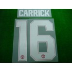 PLAYER ISSUE Official CARRICK #16 Manchester United Home CUP UCL 2017-18 PRINT