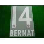 Official BERNAT #14 Bayern Munich Home 2017-18 DEKOGRAPHICS PU PRINT
