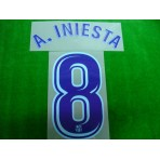 OFFICIAL A.INIESTA #8 Barcelona Away 2017-18 PRINT