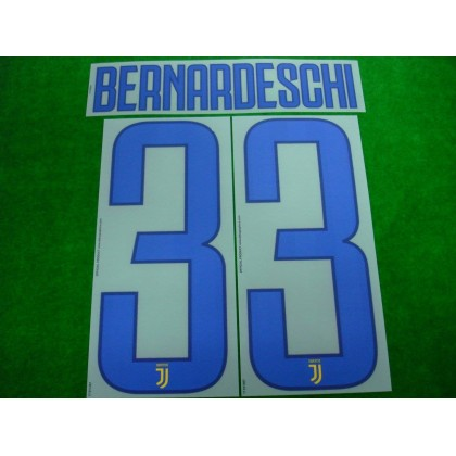 Official BERNARDESCHI #33 Juventus Away 2017-18 PRINT