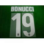 Official BONUCCI #19 AC Milan Home 2017-18 Name Number