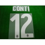 Official CONTI #12 AC Milan Home 2017-18 Name Number