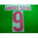 Official ANDRE SILVA #9 AC Milan Away 2017-18 Name Number