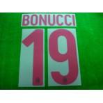 Official BONUCCI #19 AC Milan Away 2017-18 Name Number