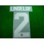 PLAYER ISSUE Official LINDELOF #2 Manchester United Away CUP UCL 2017-18 PRINT