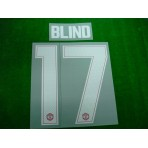 PLAYER ISSUE Official BLIND #17 Manchester United Home CUP UCL 2017-18 PRINT