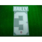 PLAYER ISSUE Official BAILLY #3 Manchester United Home CUP UCL 2017-18 PRINT
