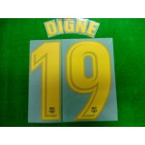 OFFICIAL DIGNE #19 Barcelona Home 2017-18 PRINT