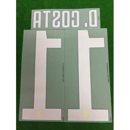 Official D.COSTA #11 Juventus Away 2017-18 PRINT