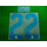 Official ISCO #22 Real Madrid CF Home 2017-18 SPORTING ID PRINT