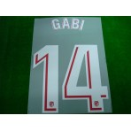 OFFICIAL GABI #14 Atletico Madrid Home 2017-18 PRINT