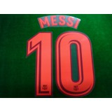 OFFICIAL PLAYER ISSUE MESSI #10 FC Barcelona 3rd UCL 2017-18 PRINT