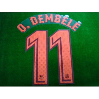 OFFICIAL PLAYER ISSUE O.DEMBELE #11 FC Barcelona 3rd UCL 2017-18 PRINT