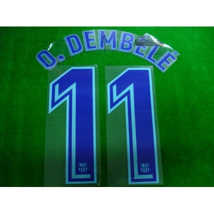 OFFICIAL PLAYER ISSUE O.DEMBELE #11 FC Barcelona Away 2017-18 PRINT