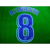 OFFICIAL PLAYER ISSUE A.INIESTA #8 FC Barcelona Away 2017-18 PRINT
