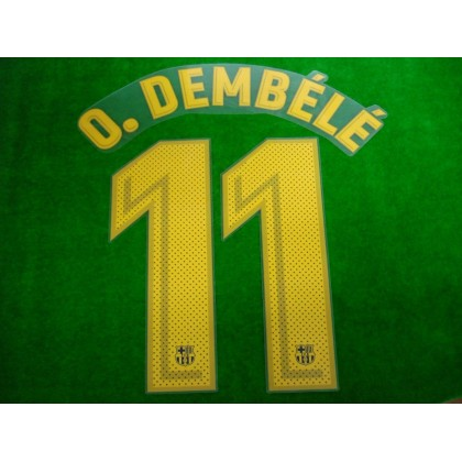 OFFICIAL PLAYER ISSUE O.DEMBELE #11 FC Barcelona Home 2017-18 PRINT