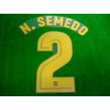 OFFICIAL PLAYER ISSUE N.SEMEDO #2 FC Barcelona Home 2017-18 PRINT