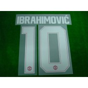 Official PLAYER ISSUE IBRAHIMOVIC' #10 Manchester United Home CUP UCL 2017-18 PRINT